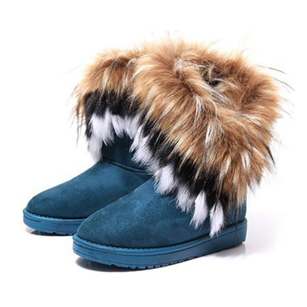 Women's Bohemian Winter Furry Boots With Long Fur on Luulla